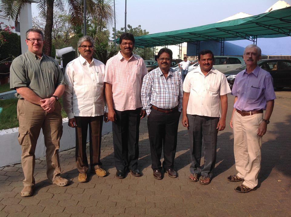 Our Mission Team: Jack McNiel, S. Karunanidhi, G.D.V.K. Prasad, M. Jayaraju, Subbarao, John Shafer