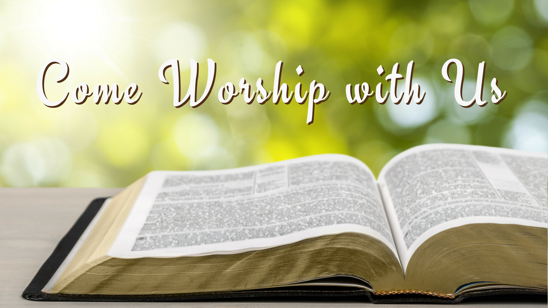 Come Worship with Us   Oak Grove Church of Christ
