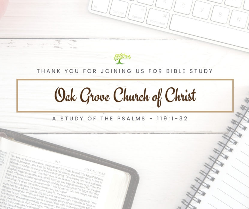 Bible Study, Wednesday, May 6, 2020 | Oak Grove Church of Christ, Jack McNiel, Evangelist