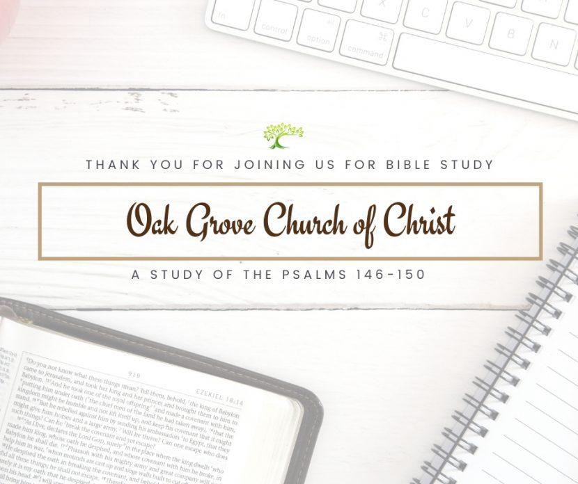 Bible Study, Wednesday, June 3, 2020 | Oak Grove Church of Christ, Jack McNiel, Evangelist