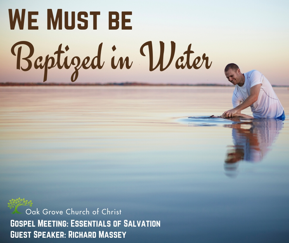 We Must Be Baptized