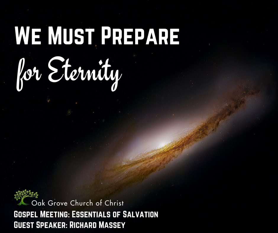 We Must Prepare for Eternity