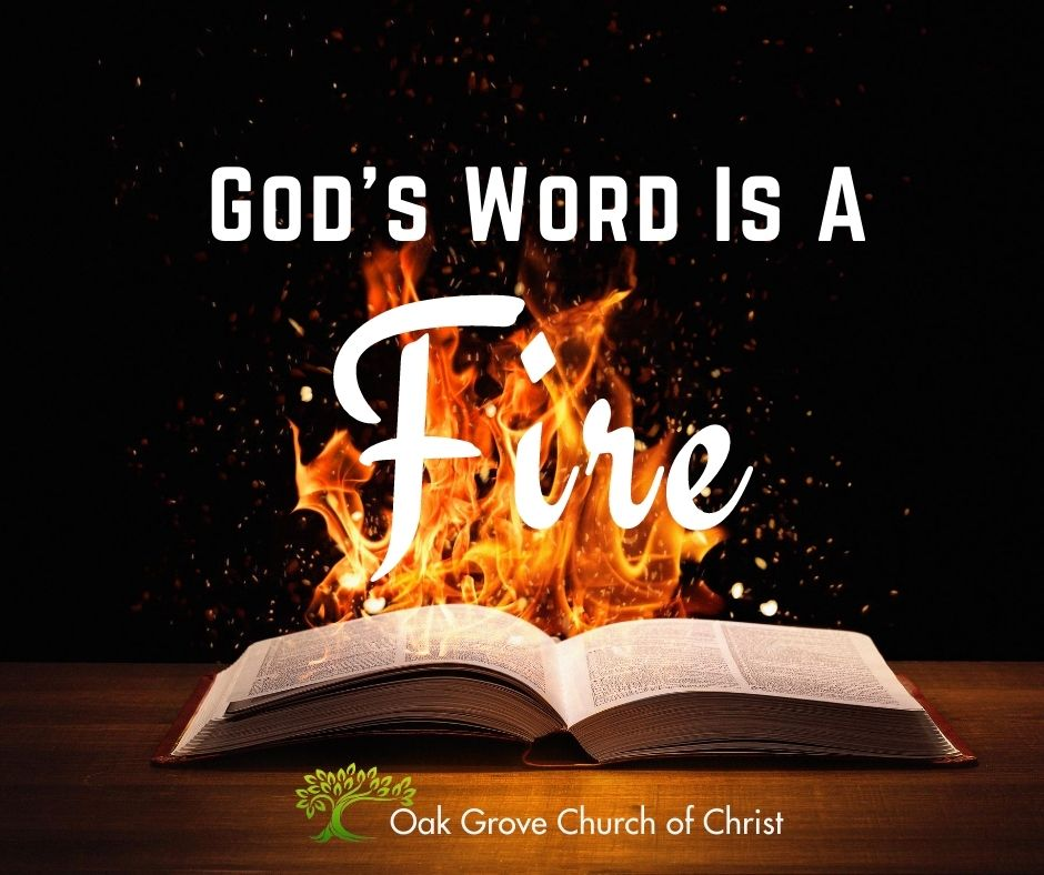 God's Word is a Fire