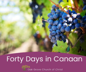 Forty Days in Canaan   Oak Grove Church of Christ, Jack McNiel, Evangelist