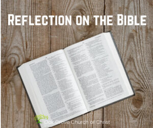 Reflection on the Bible   Oak Grove Church of Christ, Sean McLaughlin, Member