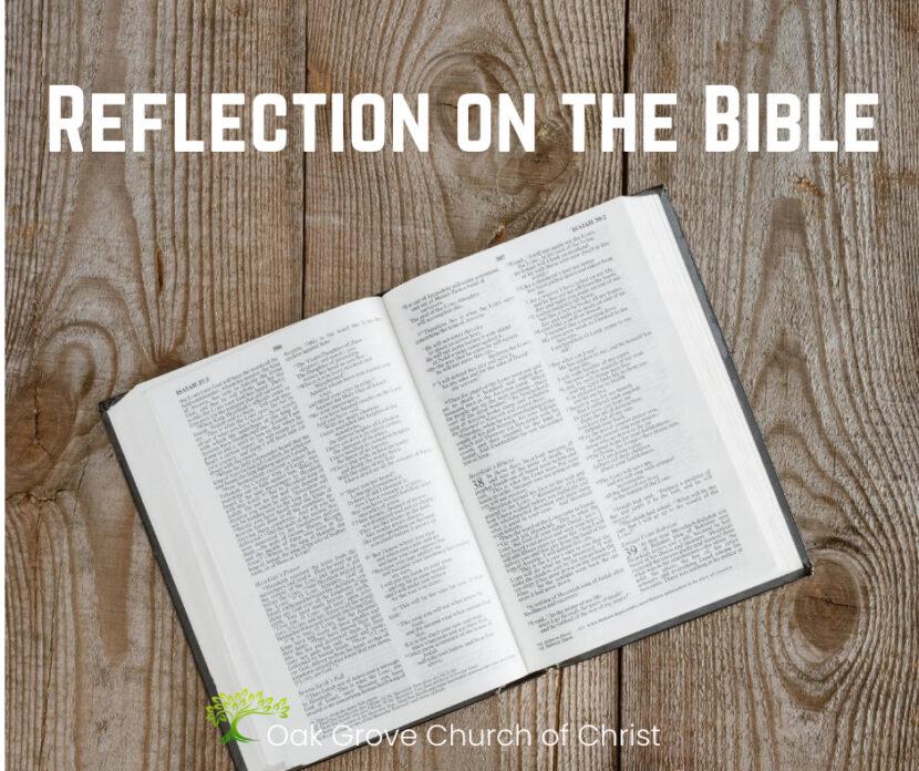 Reflection on the Bible | Oak Grove Church of Christ, Sean McLaughlin, Member